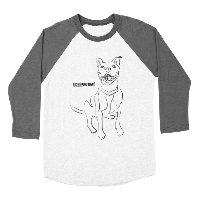 Contour Dog Men's Baseball Triblend Longsleeve T-Shirt by Austin Pets Alive's Artist Shop