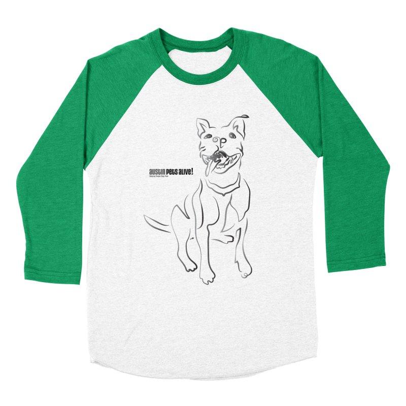 Contour Dog Men's Baseball Triblend Longsleeve T-Shirt by Austin Pets Alive's Artist Shop