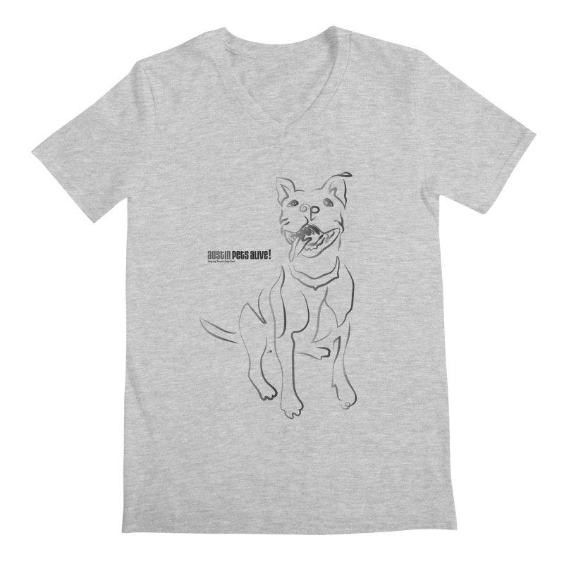 Contour Dog Men's Regular V-Neck by Austin Pets Alive's Artist Shop