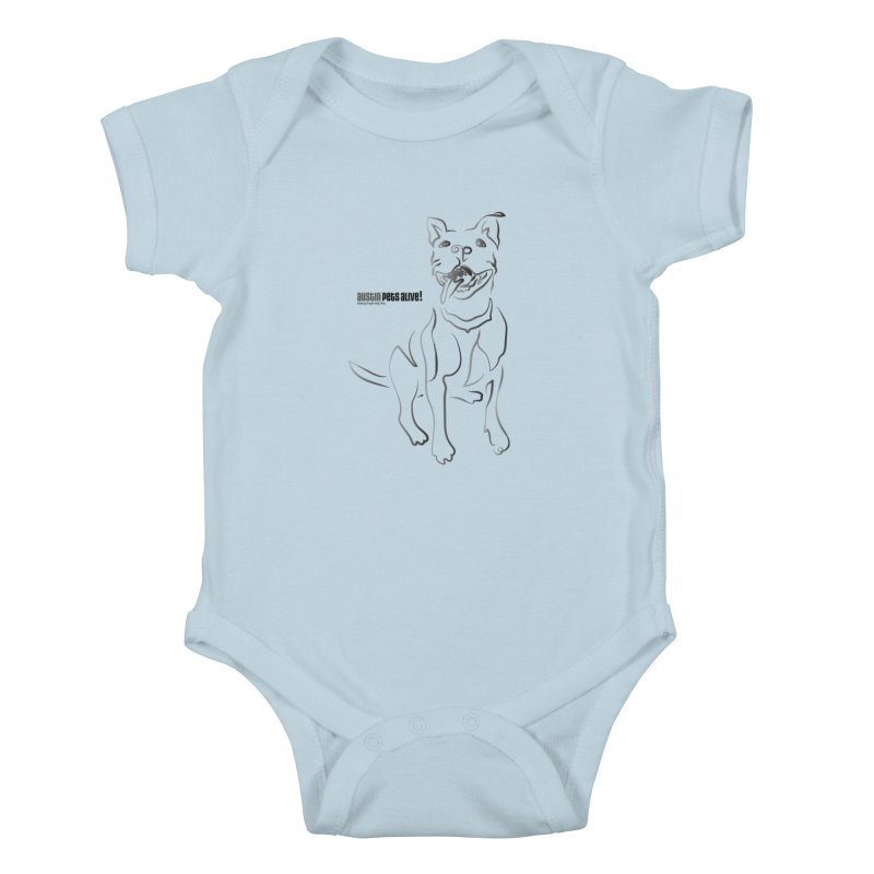 Contour Dog Kids Baby Bodysuit by Austin Pets Alive's Artist Shop