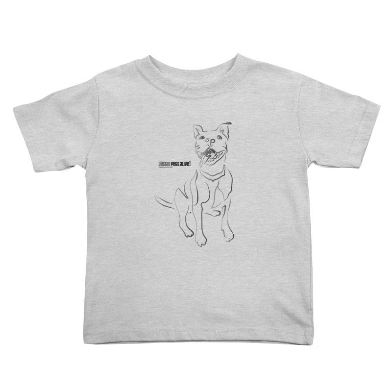 Contour Dog Kids Toddler T-Shirt by Austin Pets Alive's Artist Shop