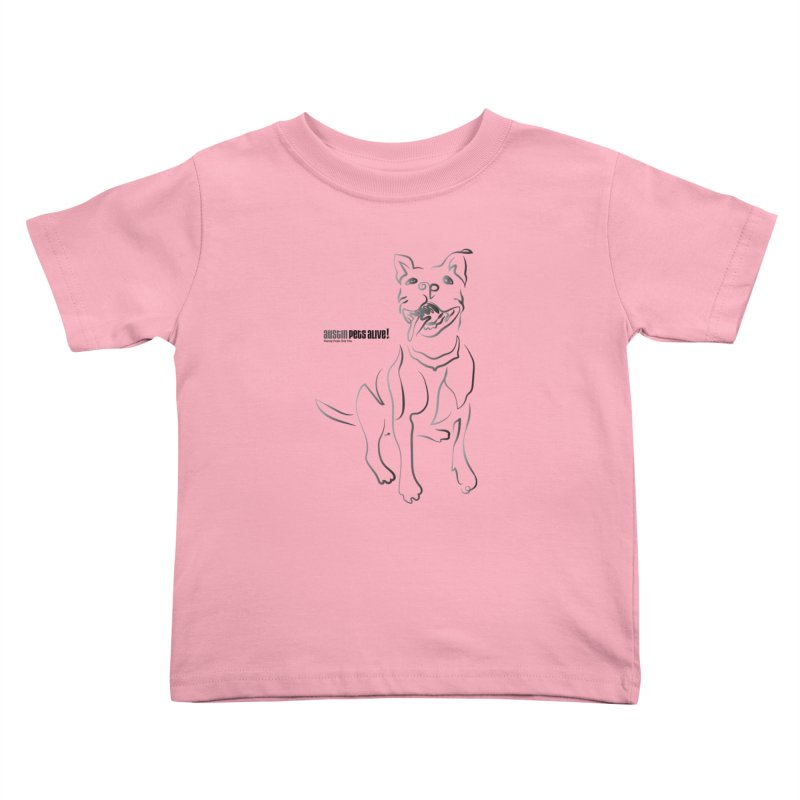 Contour Dog Kids Toddler T-Shirt by austinpetsalive's Artist Shop