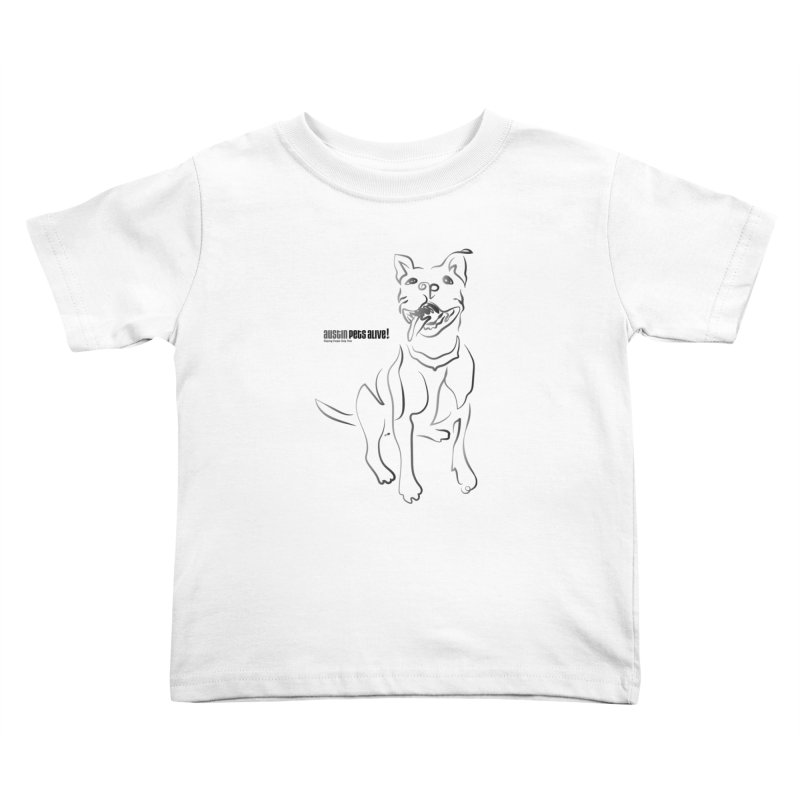 Contour Dog Kids Toddler T-Shirt by Austin Pets Alive's Artist Shop
