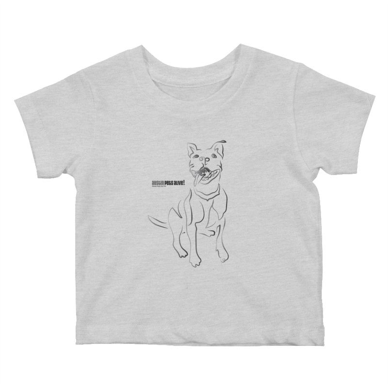 Contour Dog Kids Baby T-Shirt by Austin Pets Alive's Artist Shop