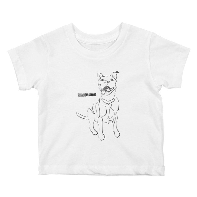 Contour Dog Kids Baby T-Shirt by Austin Pets Alive's Artist Shop