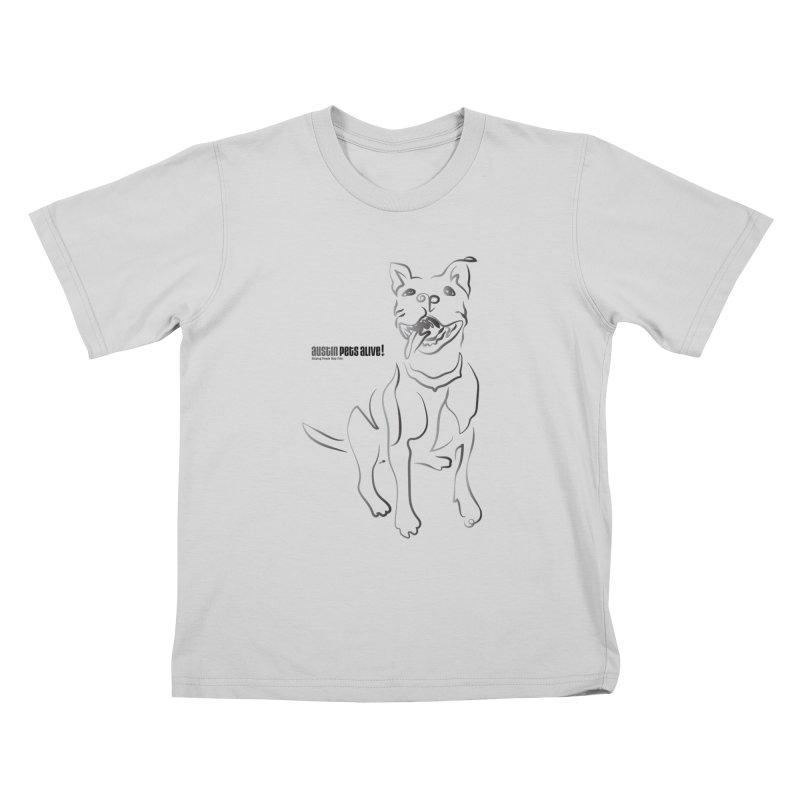 Contour Dog Kids T-Shirt by Austin Pets Alive's Artist Shop