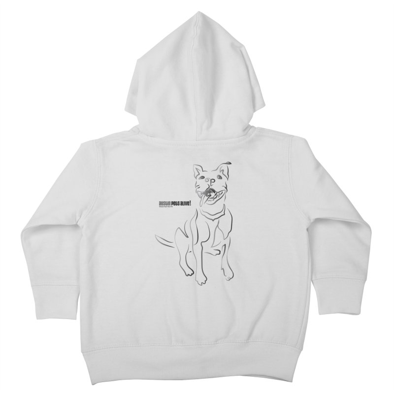 Contour Dog Kids Toddler Zip-Up Hoody by Austin Pets Alive's Artist Shop
