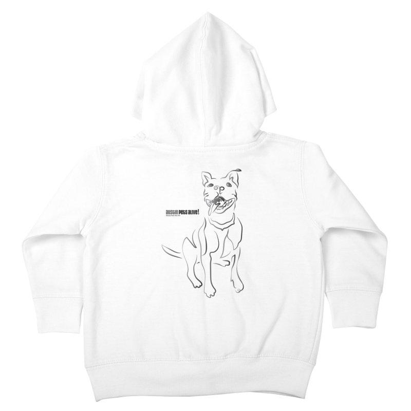 Contour Dog Kids Toddler Zip-Up Hoody by Austin Pets Alive's Artist Shop