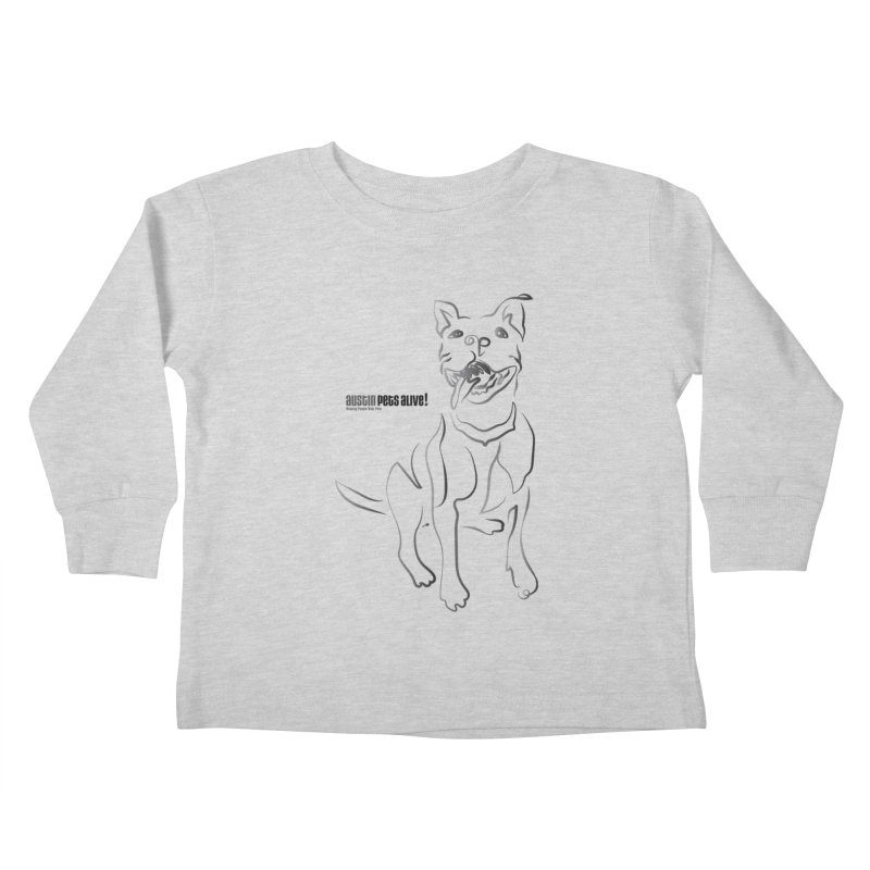 Contour Dog Kids Toddler Longsleeve T-Shirt by Austin Pets Alive's Artist Shop
