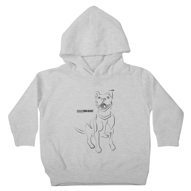 Contour Dog Kids Toddler Pullover Hoody by Austin Pets Alive's Artist Shop