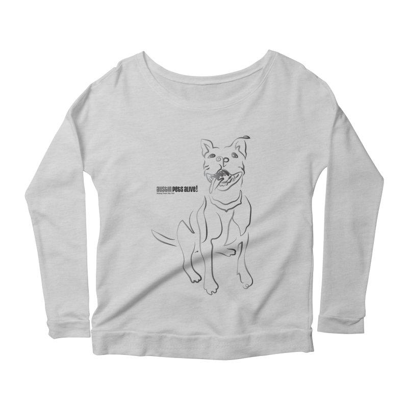 Contour Dog Women's Scoop Neck Longsleeve T-Shirt by Austin Pets Alive's Artist Shop
