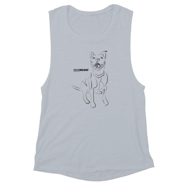 Contour Dog Women's Muscle Tank by austinpetsalive's Artist Shop