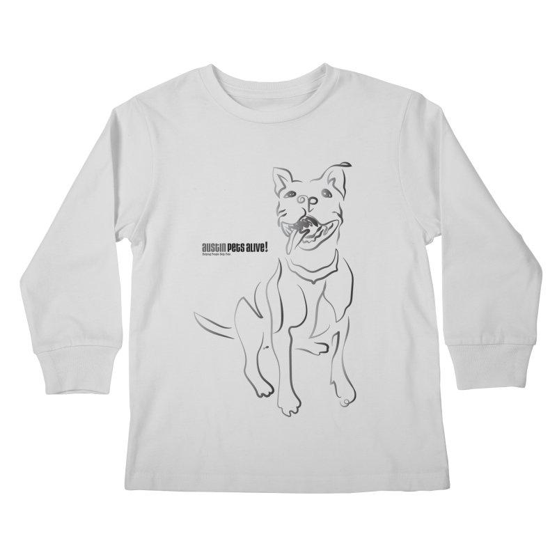 Contour Dog Kids Longsleeve T-Shirt by Austin Pets Alive's Artist Shop