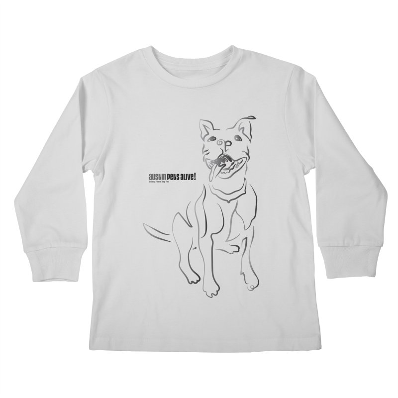 Contour Dog Kids Longsleeve T-Shirt by austinpetsalive's Artist Shop