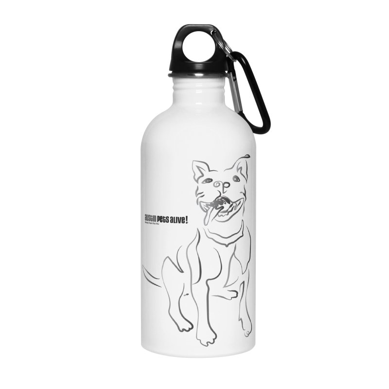 Contour Dog Accessories Water Bottle by Austin Pets Alive's Artist Shop