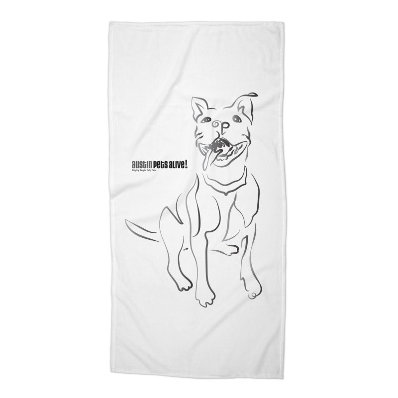 Contour Dog Accessories Beach Towel by Austin Pets Alive's Artist Shop