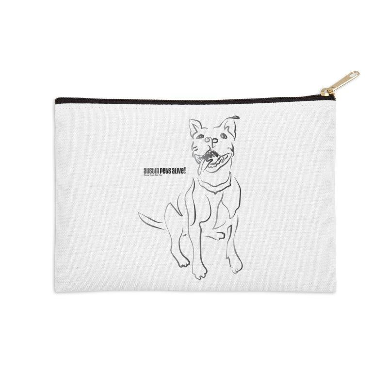 Contour Dog Accessories Zip Pouch by austinpetsalive's Artist Shop