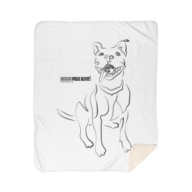 Contour Dog Home Sherpa Blanket Blanket by Austin Pets Alive's Artist Shop