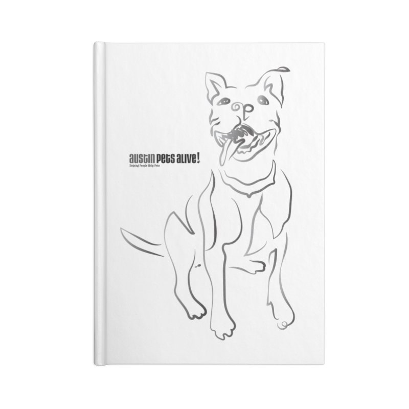 Contour Dog Accessories Lined Journal Notebook by Austin Pets Alive's Artist Shop