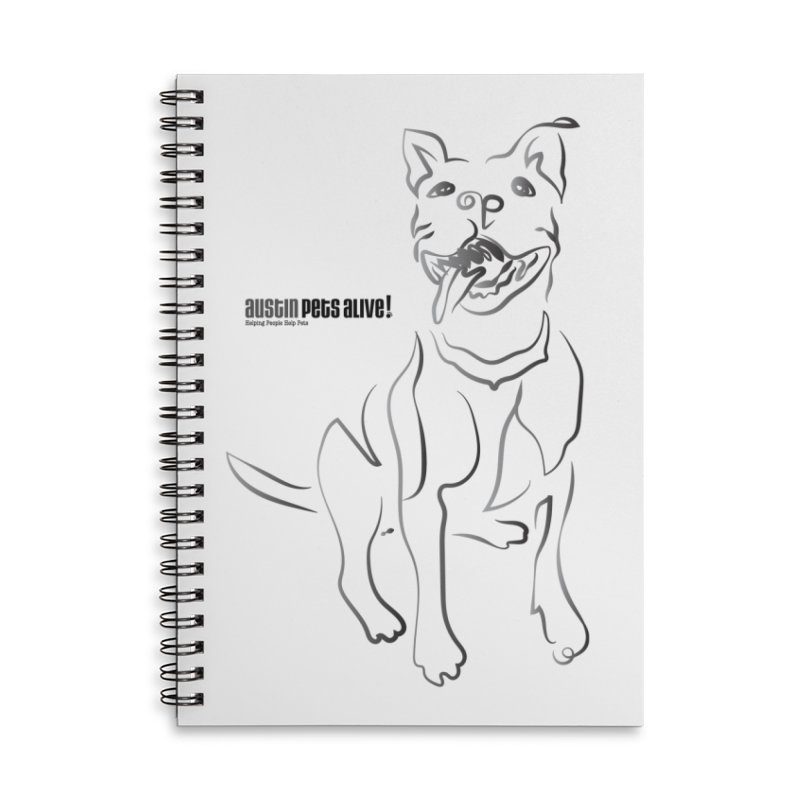 Contour Dog Accessories Lined Spiral Notebook by Austin Pets Alive's Artist Shop