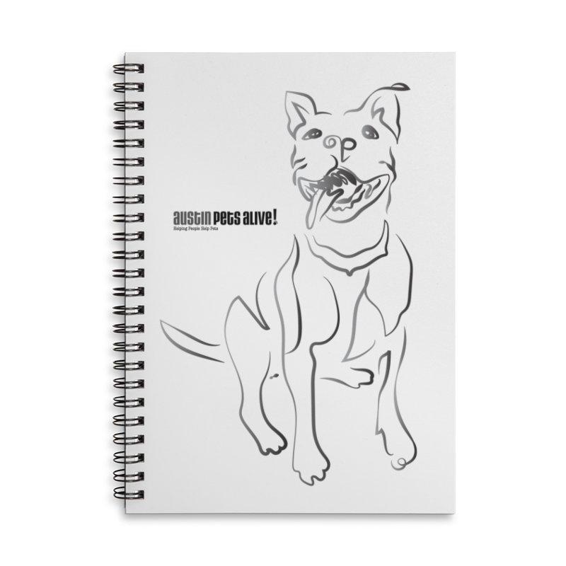 Contour Dog Accessories Notebook by Austin Pets Alive's Artist Shop