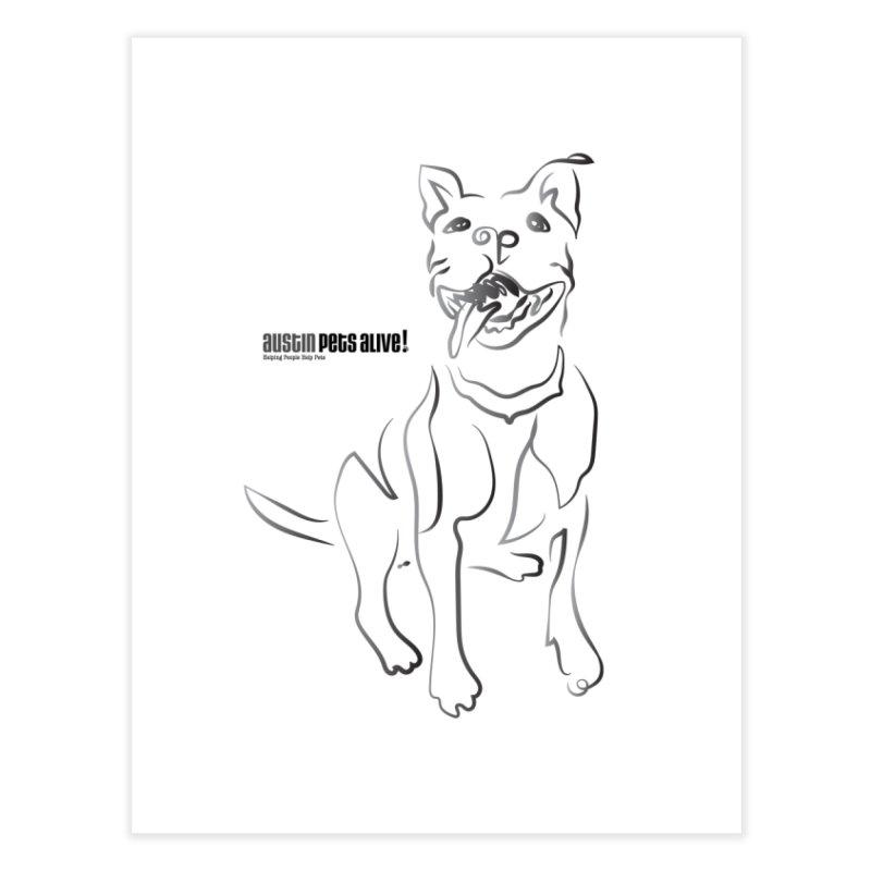 Contour Dog Home Fine Art Print by Austin Pets Alive's Artist Shop