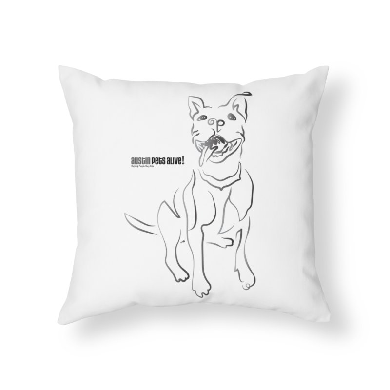 Contour Dog Home Throw Pillow by Austin Pets Alive's Artist Shop