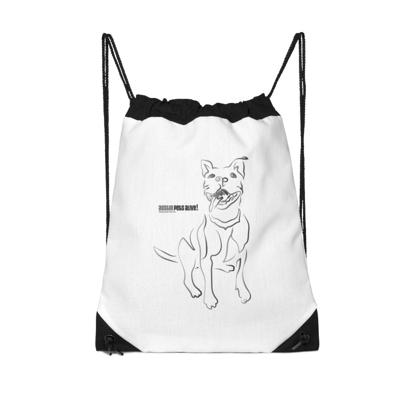Contour Dog Accessories Drawstring Bag Bag by Austin Pets Alive's Artist Shop