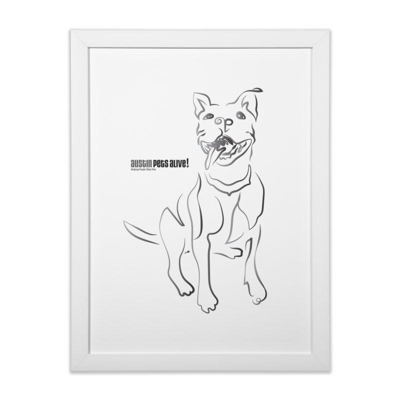 Contour Dog Home Framed Fine Art Print by Austin Pets Alive's Artist Shop