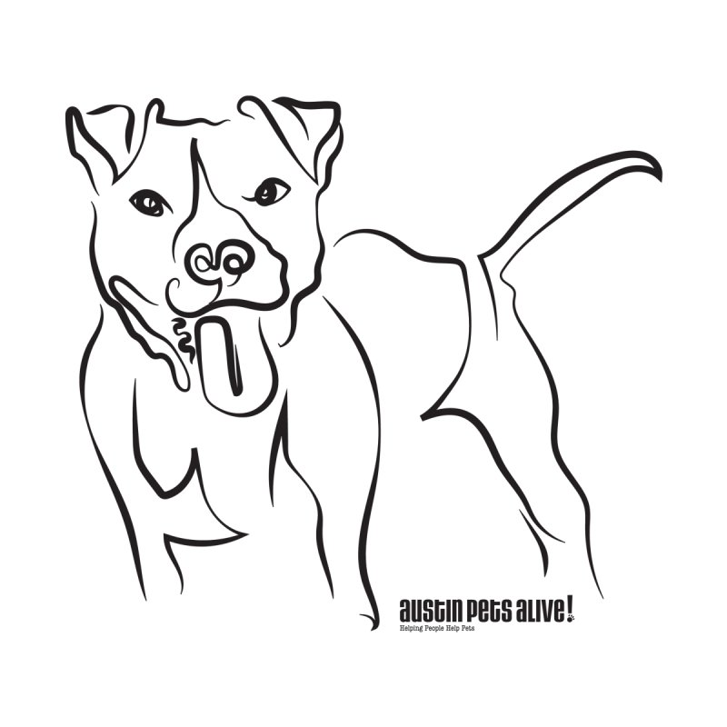 Tail-Wagin' Contour Dog Accessories Sticker by Austin Pets Alive's Artist Shop