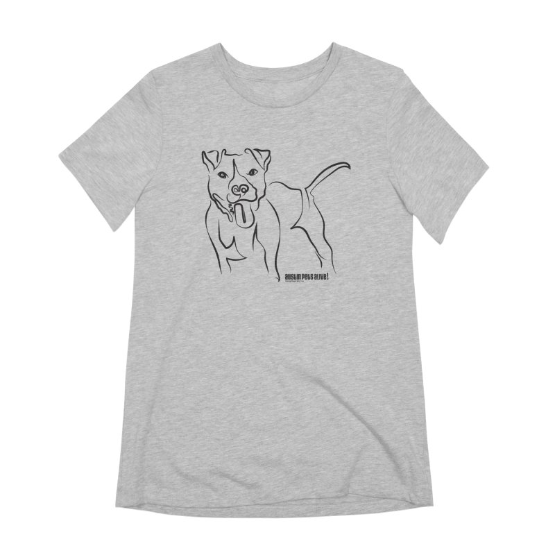 Tail-Wagin' Contour Dog Women's Extra Soft T-Shirt by Austin Pets Alive's Artist Shop