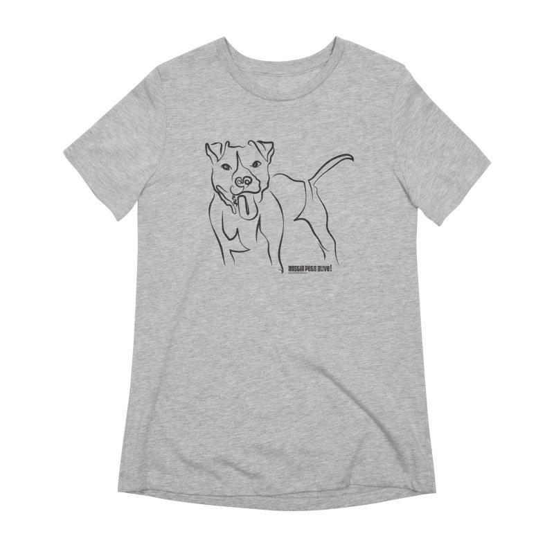 Tail-Wagin' Contour Dog Women's Extra Soft T-Shirt by Austin Pets Alive's Artist Shop