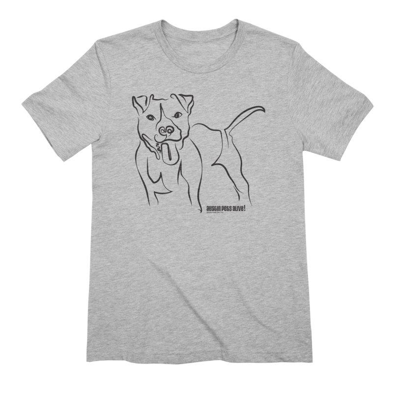 Tail-Wagin' Contour Dog Men's Extra Soft T-Shirt by Austin Pets Alive's Artist Shop