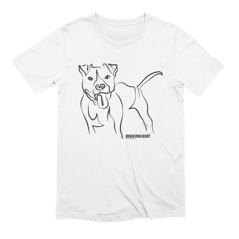 Tail-Wagin' Contour Dog Men's Extra Soft T-Shirt by austinpetsalive's Artist Shop
