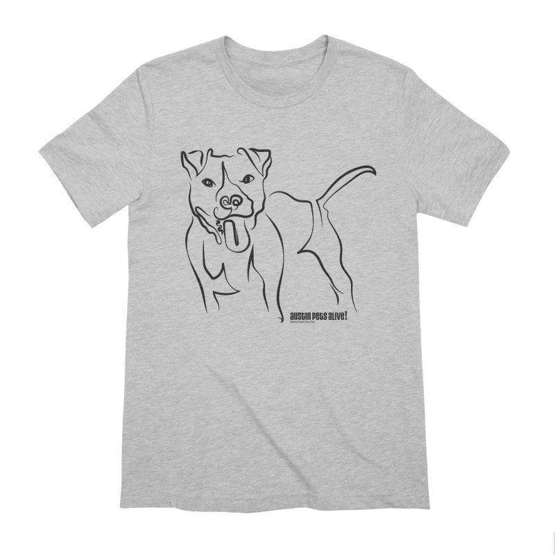 Tail-Wagin' Contour Dog Men's Extra Soft T-Shirt by Austin Pets Alive's Artist Shop