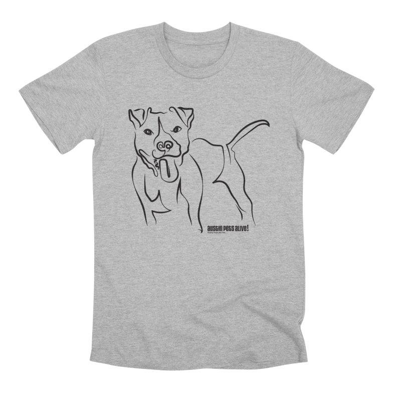 Tail-Wagin' Contour Dog Men's Premium T-Shirt by Austin Pets Alive's Artist Shop