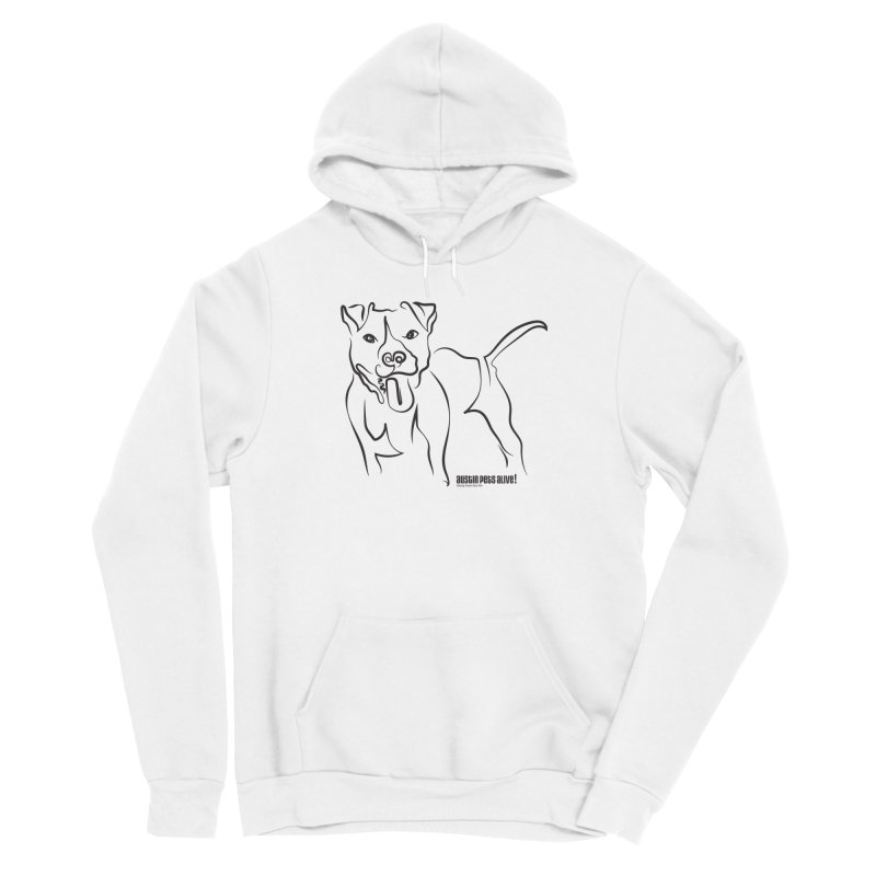 Tail-Wagin' Contour Dog Men's Pullover Hoody by Austin Pets Alive's Artist Shop