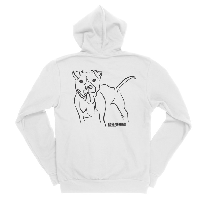 Tail-Wagin' Contour Dog Men's Sponge Fleece Zip-Up Hoody by Austin Pets Alive's Artist Shop
