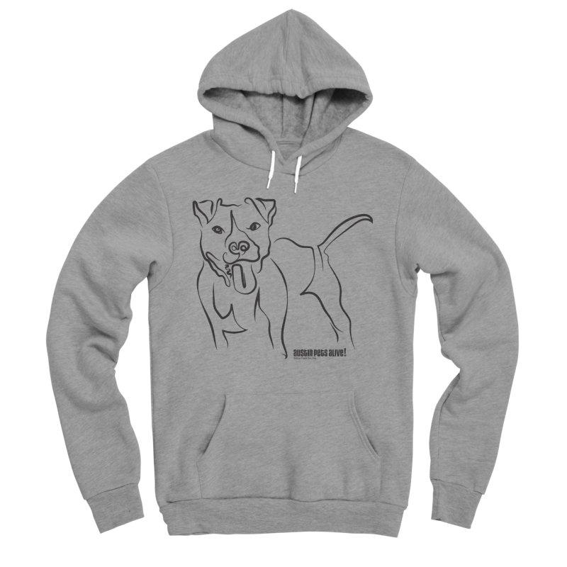 Tail-Wagin' Contour Dog Women's Sponge Fleece Pullover Hoody by Austin Pets Alive's Artist Shop