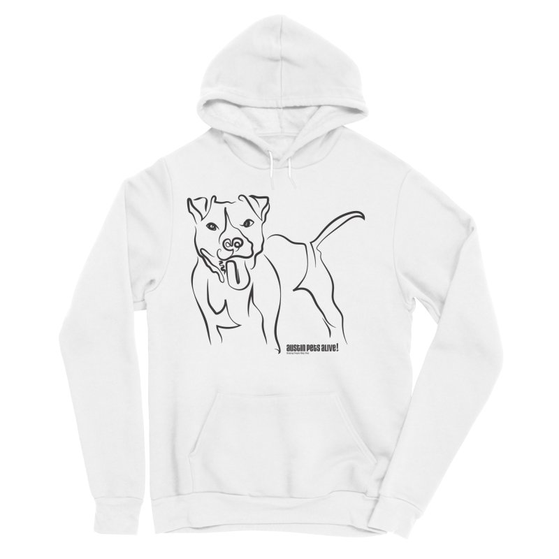 Tail-Wagin' Contour Dog Men's Sponge Fleece Pullover Hoody by Austin Pets Alive's Artist Shop