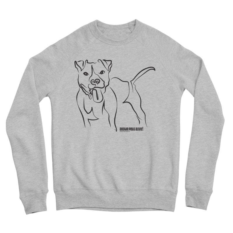 Tail-Wagin' Contour Dog Women's Sponge Fleece Sweatshirt by Austin Pets Alive's Artist Shop