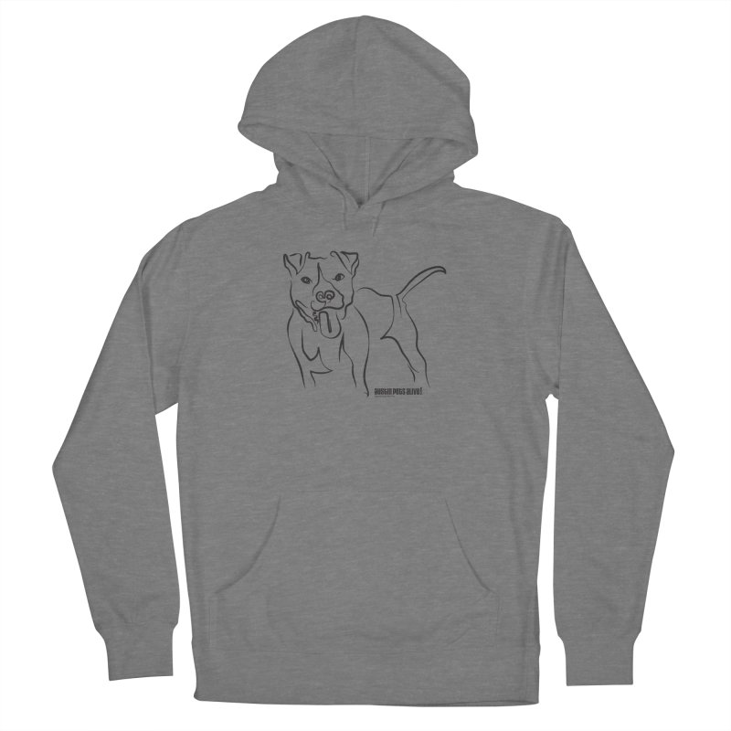 Tail-Wagin' Contour Dog Women's Pullover Hoody by Austin Pets Alive's Artist Shop