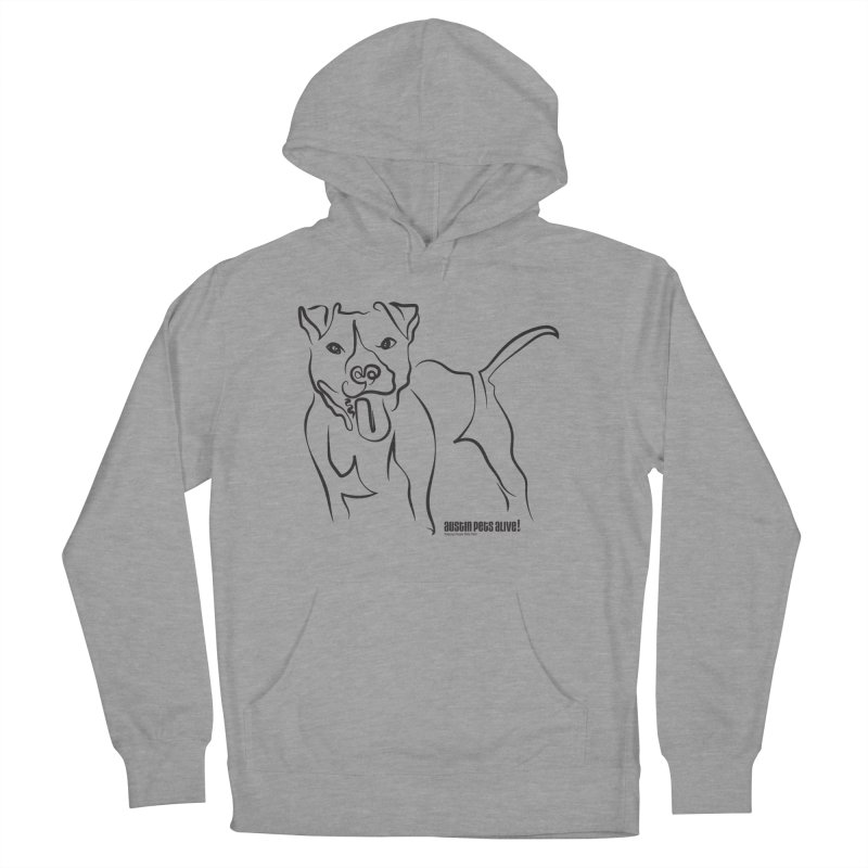 Tail-Wagin' Contour Dog Men's French Terry Pullover Hoody by Austin Pets Alive's Artist Shop