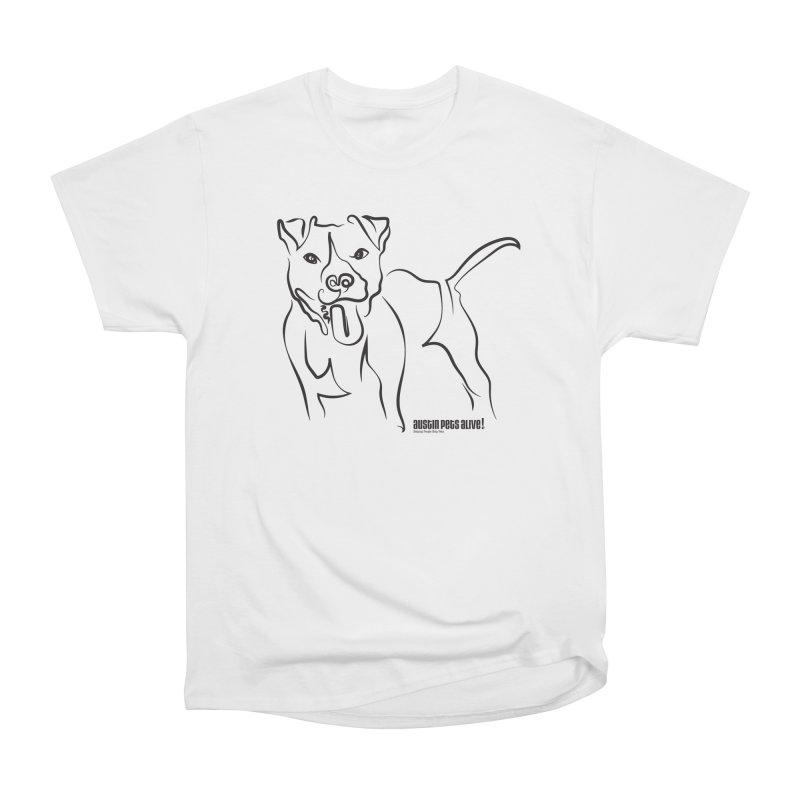 Tail-Wagin' Contour Dog Men's Heavyweight T-Shirt by Austin Pets Alive's Artist Shop