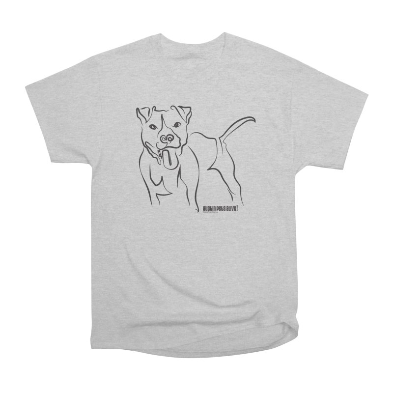 Tail-Wagin' Contour Dog Men's Heavyweight T-Shirt by Austin Pets Alive's Artist Shop