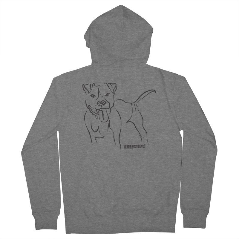 Tail-Wagin' Contour Dog Women's Zip-Up Hoody by Austin Pets Alive's Artist Shop