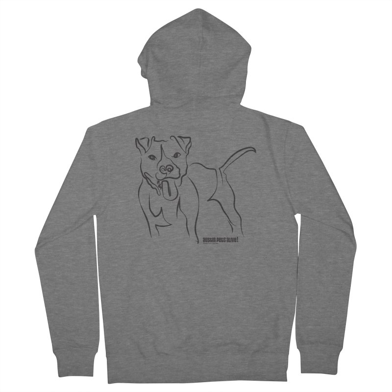 Tail-Wagin' Contour Dog Men's Zip-Up Hoody by Austin Pets Alive's Artist Shop