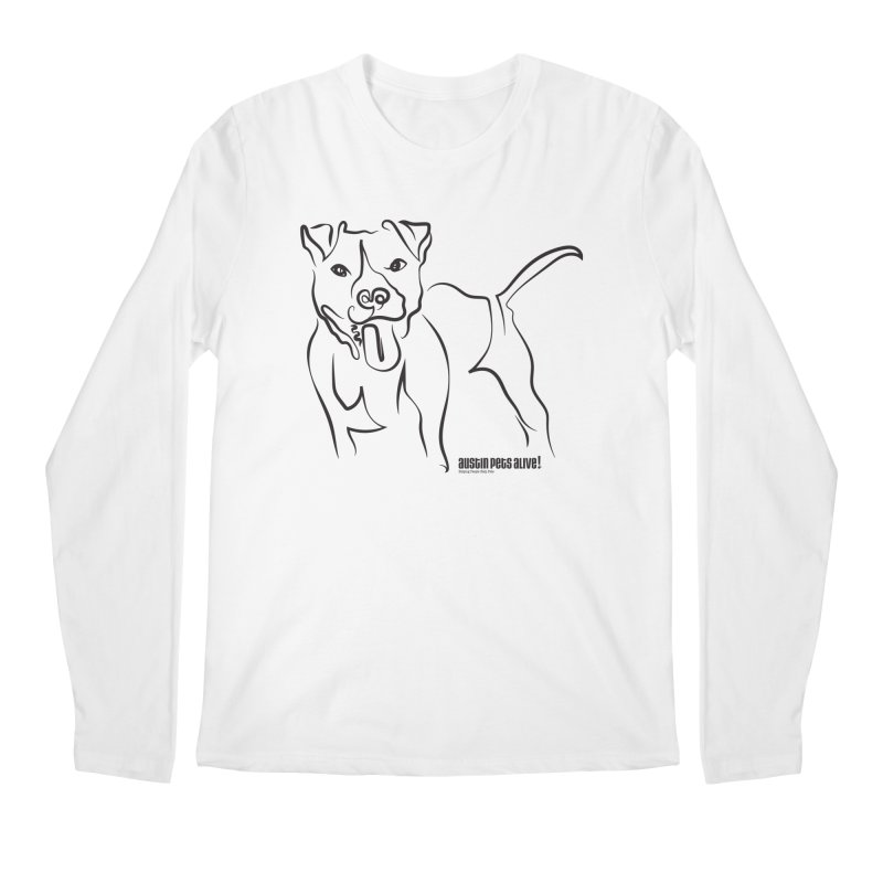 Tail-Wagin' Contour Dog Men's Longsleeve T-Shirt by Austin Pets Alive's Artist Shop