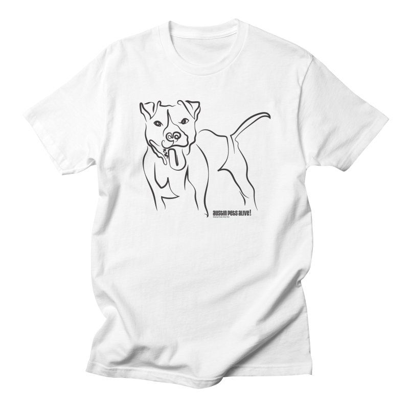 Tail-Wagin' Contour Dog Men's Regular T-Shirt by Austin Pets Alive's Artist Shop