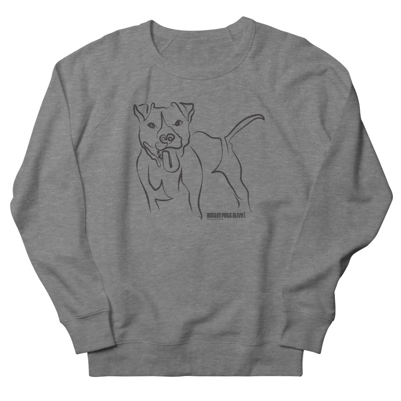 Tail-Wagin' Contour Dog Women's Sweatshirt by Austin Pets Alive's Artist Shop